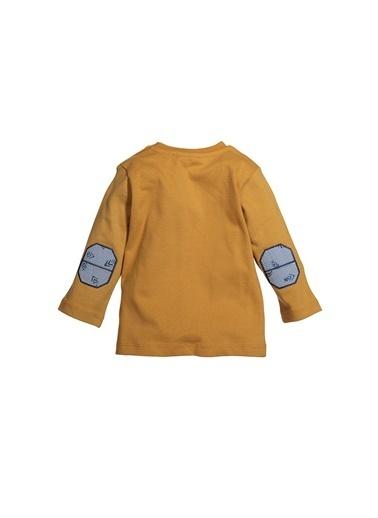 Zeyland Yakası Çıtçıtlı Baskılı Sweatshirt (9ay-4yaş) Yakası Çıtçıtlı Baskılı Sweatshirt (9ay-4yaş) Hardal